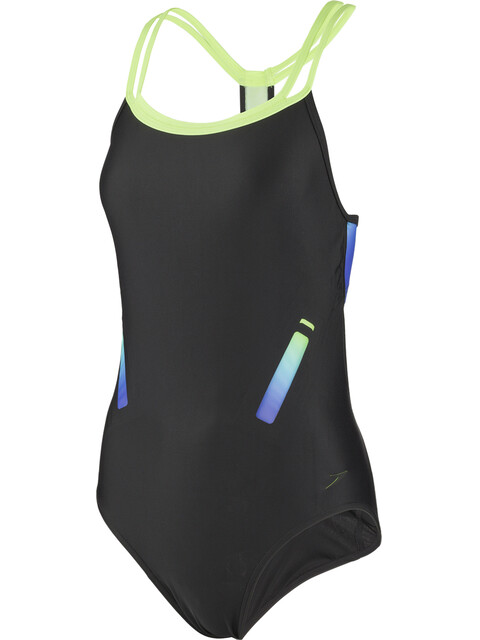 speedo Hydrosense Flowback Swimsuit Women, black/green